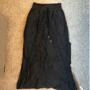 Boho Flowy Grey Maxi Skirt